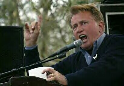 Martin Sheen speaks at rally at Jefferson Park in San Francisco